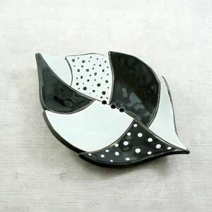 ceramika pióro mydelniczka ceramiczna, mydelniczka, łazienka, pióro, liść
