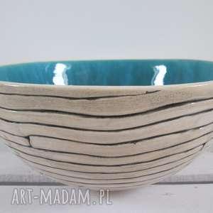 mega misa turkusowa, ceramiczna, miska, z-ceramiki, na-owoce