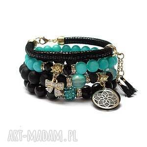 hand made black and turquoise /31.08.21/ - set