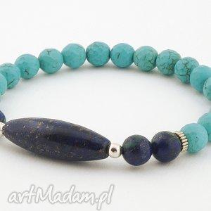 wyjątkowy prezent, męska lapis lazuli howlit, chryzokola, lapis, lazuli