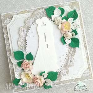 kartka ślubna, kartka, życzenia, pudełko, państwo młodzi, ślub
