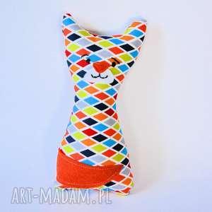 Kotek Mruczek Piotrek 18 cm, kot, kotek, niemowlę, bezpieczna, kolorowa, dziecko