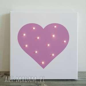lampy świecący obraz serce prezent lampka dekoracja, lampka, dziecka, obraz