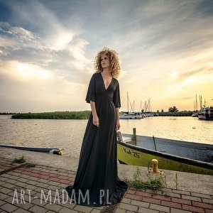 sukienki magdalena maxi black, długa, maxi, wieczorowa