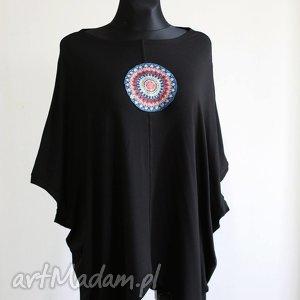 bluzka-kamizelka, wiskoza, lejąca, czarna, bluzka, kamizelka, asymetryczna