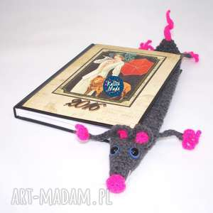 pomysł na upominek Szczurek - zakładka do książki, szczur, szczurek,