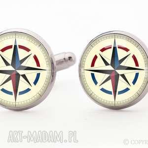 Prezent Kompas - Spinki do mankietów, spinki, kompas, podróżnika, prezent