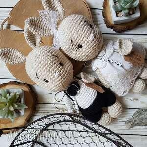 króliczkowa para młoda, rekodzielo, slub, prezent, crochet, weeding, króliczek