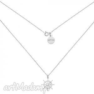 sotho srebrny naszyjnik ze sterem srebro, morski, modny