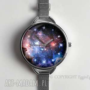 zegarek damski z bransoletą - carina nebula - młodzieżowy