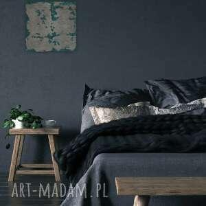 obraz 60x60cm beton i malachit, dekoracja, obraz, panel, beton