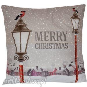 poduszka dekoracyjna latarnie, dekoracyjna, świąteczna, zimowa, niepowtarzalna
