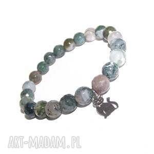 Kotek srebrny w agacie, agat, srebro, kot, zwierzak, kamienie, modna