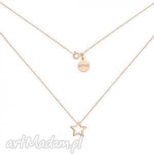 naszyjnik z różowego złota z gwiazdką - minimalistyczny
