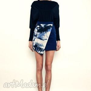 spódniczka mini z asymetrycznym przodem, asymetryczna, spódnica, spódnice