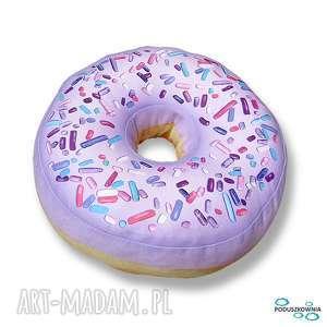 hand made pokoik dziecka poduszka pączek donut xxl duży jagodowy