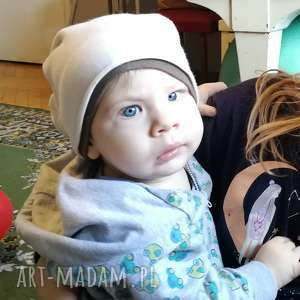czapka dla dziecka eru na podszewce smerfetka, czapka, niemowlak, ciepła