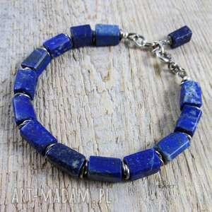 hand-made bransoletki lapis lazuli z przekładkami