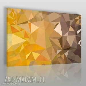 obrazy obraz na płótnie - trójkąty geometryczny 120x80 cm 23801, trójkąty, trójkąt