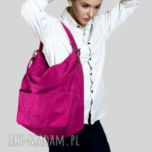 hand-made torebki różowa torebka listonoszka na ramię