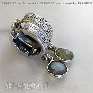 srebro, kolczyki - limitowana seria, labradoryty w oprawie, labradoryty, srebro
