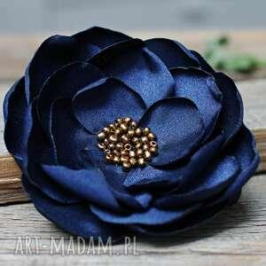 broszki duża broszka kwiat, przypinka, elegancka broszka, pomysł na prezent
