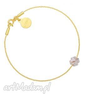 sotho złota bransoletka zdobiona złotą koniczynką