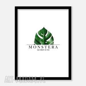 monstera minimal plakat, plakaty