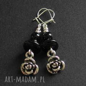 rose noire, róża, czerń, srebro