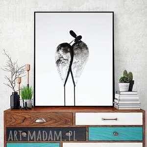 Grafika 40x50 cm wykonana ręcznie, plakat, abstrakcja, elegancki