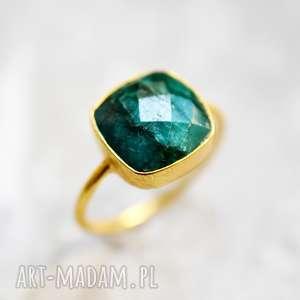 madamlili pozłacany pierścionek awenturyn, minerał, kamień