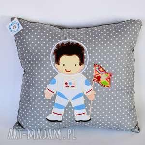 Poduszka z aplikacją - Kosmonauta , poduszka, kosmonauta, chłopczyk, kosmos, dziecko