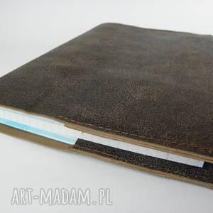 hand-made notesy skórzana okładka na zeszyt/notatnik