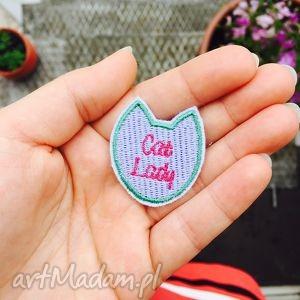 naszywka cat lady - ,cat,lady,naszywka,kot,catlady,pastelowa,