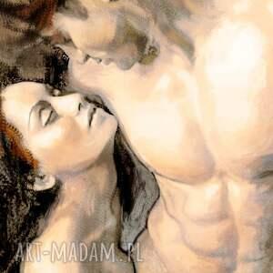 renata bulkszas obraz na płótnie, pasja 2, 90 x 60, pocałunek, miłość