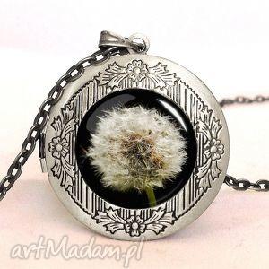 dmuchawiec - sekretnik z łańcuszkiem, elegancki naszyjnik, kwiaty