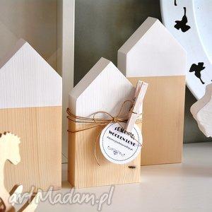 3 domki drewniane, domki, domek, drewniany, drewna, geometryczne