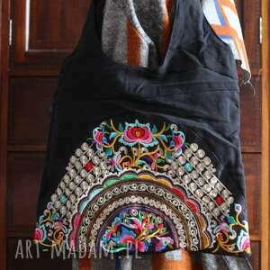 handmade na ramię torba etniczna haftowana