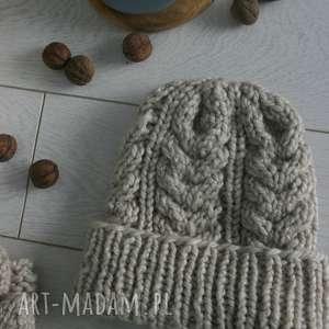 wełniana ciepła czapka - czapka, nazime, wełna, alpaca
