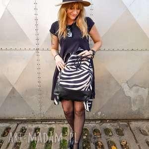 plecak zebra wegański unikatowy model, plecak, worek, prezent, pojemny