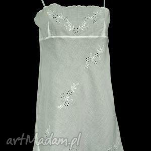 bielizna koszulka - haleczka rozmiar 40, haft, ręczny, batyst
