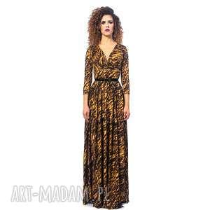 sukienki elle - gold zebra