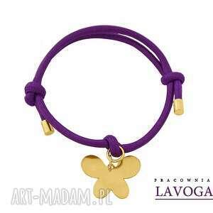 violet twine with butterfly - zawieszka, sznurek