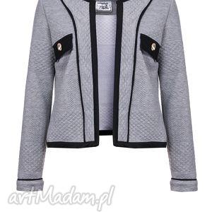 żakiet marynarka be free jacket, kurtka, dzianinowa, szara, sportowa