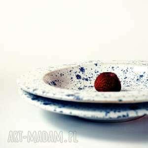 handmade ceramika talerz głęboki z kolekcji milky way