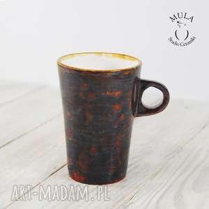 Kubek brązowy ceramika mula ceramiczny, ceramika, kubek,