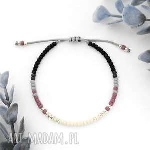 Bransoletka Minimal - Autumn Violet, delikatna, minimalistyczna, elegancka, unikalna