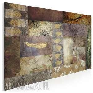 obraz na płótnie - liście beż brąz 120x80 cm 46301, liście, jesień, natura