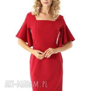 sukienki sukienka z kwadratowym dekoltem blanca malina, elegancka