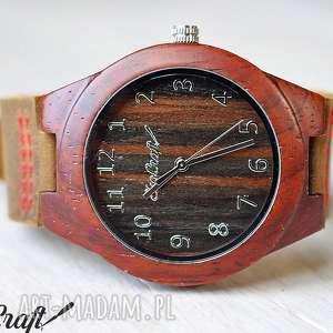 Drewniany damski zegarek RED SANDAL WOOD woman, zegarek, drewniany, damski, lekki